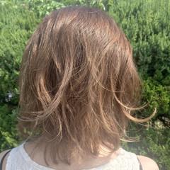 ストリート ミルクティー ボブ ミディアム ヘアスタイルや髪型の写真・画像