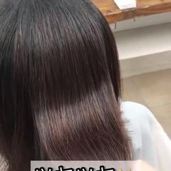 美髪 ツヤ髪 ミディアム 縮毛矯正 ヘアスタイルや髪型の写真・画像