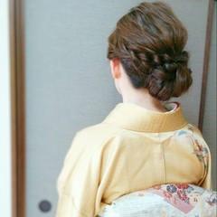 ロング ヘアアレンジ 大人かわいい 和装 ヘアスタイルや髪型の写真・画像