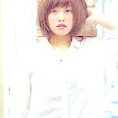 艶髪 ショートボブ ボブ ベース型 ヘアスタイルや髪型の写真・画像