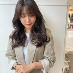 ブラウンベージュ ブラウン フェミニン 韓国ヘア ヘアスタイルや髪型の写真・画像