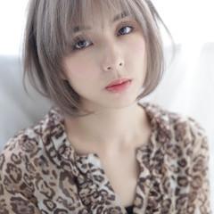 透明感 アッシュ 秋 ショート ヘアスタイルや髪型の写真・画像
