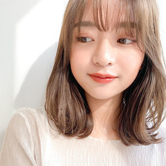 レイヤーカット 透明感 ナチュラル 小顔ヘア ヘアスタイルや髪型の写真・画像
