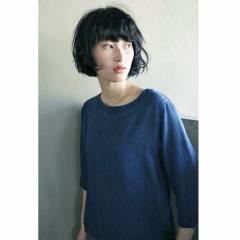 ナチュラル 暗髪 ウェットヘア ショート ヘアスタイルや髪型の写真・画像