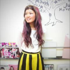 ブラウンベージュ 黒髪 ピンク レッド ヘアスタイルや髪型の写真・画像