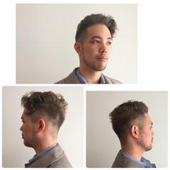 パーマ 刈り上げ ショート 外国人風 ヘアスタイルや髪型の写真・画像