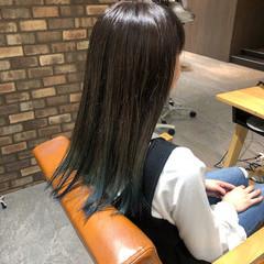 ロング グラデーションカラー 透明感カラー イルミナカラー ヘアスタイルや髪型の写真・画像