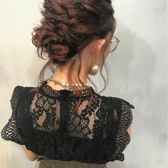 パーティ ミディアム ウェーブ 結婚式 ヘアスタイルや髪型の写真・画像