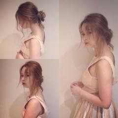 ヘアアレンジ ナチュラル 大人かわいい 簡単ヘアアレンジ ヘアスタイルや髪型の写真・画像