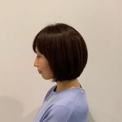 ボブ ミニボブ ナチュラル ショートボブ ヘアスタイルや髪型の写真・画像