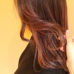 ラベンダーカラー ナチュラル ロング グラデーションカラー ヘアスタイルや髪型の写真・画像