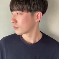 メンズパーマ ナチュラル 黒髪 マッシュショート ヘアスタイルや髪型の写真・画像