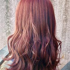 透明感 ロング 赤髪 ナチュラル ヘアスタイルや髪型の写真・画像