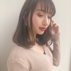 ミディアムレイヤー モテボブ デート ミディアムヘアー ヘアスタイルや髪型の写真・画像