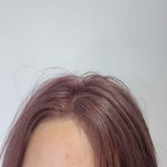 ピンクパープル ブリーチ ミディアム ピンク ヘアスタイルや髪型の写真・画像