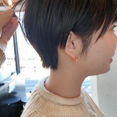 ショート マッシュヘア ナチュラル マッシュショート ヘアスタイルや髪型の写真・画像