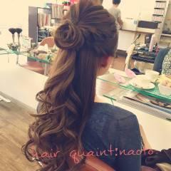 モード ヘアアレンジ ロング ヘアスタイルや髪型の写真・画像