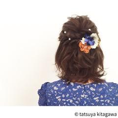 ヘアアレンジ 花嫁 ボブ 色気 ヘアスタイルや髪型の写真・画像