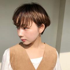 モテ髪 ショート 冬 耳かけ ヘアスタイルや髪型の写真・画像