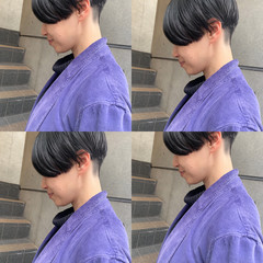 ショートボブ ショート 切りっぱなしボブ ミニボブ ヘアスタイルや髪型の写真・画像