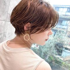 小顔ショート ショート ナチュラル ミニボブ ヘアスタイルや髪型の写真・画像