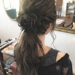 デート くるりんぱ 女子会 ロング ヘアスタイルや髪型の写真・画像
