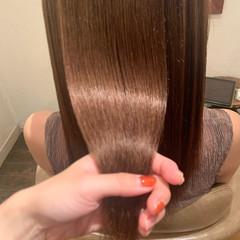 ナチュラル セミロング 髪質改善 髪質改善トリートメント ヘアスタイルや髪型の写真・画像