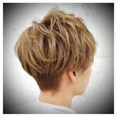 おフェロ ショート パーマ ボーイッシュ ヘアスタイルや髪型の写真・画像