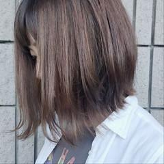 ハイライト 秋 ボブ 透明感 ヘアスタイルや髪型の写真・画像