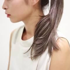 ロング 秋 ハイライト 黒髪 ヘアスタイルや髪型の写真・画像