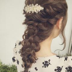 ロング ヘアアレンジ 大人かわいい 結婚式 ヘアスタイルや髪型の写真・画像