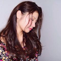フェミニン 大人かわいい ガーリー 後れ毛 ヘアスタイルや髪型の写真・画像