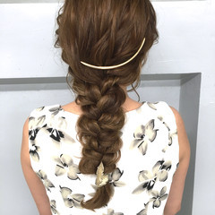 ショート 簡単ヘアアレンジ 外国人風 ロング ヘアスタイルや髪型の写真・画像