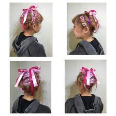 アップスタイル 編み込み ショート 簡単ヘアアレンジ ヘアスタイルや髪型の写真・画像