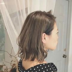 外国人風 切りっぱなし 透明感 ハイライト ヘアスタイルや髪型の写真・画像
