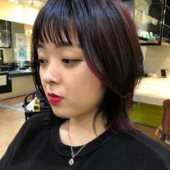 ミディアムヘアー レッドカラー ストリート ミディアム ヘアスタイルや髪型の写真・画像