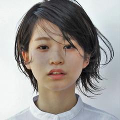 冬 暗髪 ミディアム 大人女子 ヘアスタイルや髪型の写真・画像