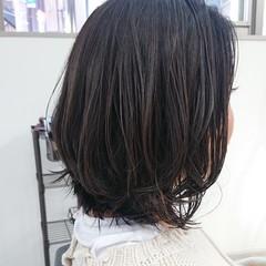 デザインカラー 暗髪 ボブ 透明感 ヘアスタイルや髪型の写真・画像