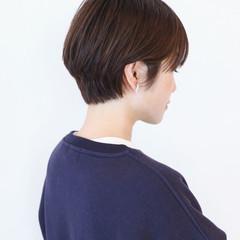 ハイライト ハンサムショート ナチュラル 大人ショート ヘアスタイルや髪型の写真・画像