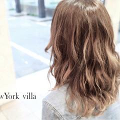 セミロング アッシュ ストリート 外国人風 ヘアスタイルや髪型の写真・画像