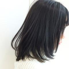 ミディアム グレー ストリート 暗髪 ヘアスタイルや髪型の写真・画像