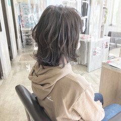 ナチュラル ボブ グレージュ 切りっぱなしボブ ヘアスタイルや髪型の写真・画像