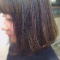 アッシュグレー ピンクアッシュ ボブ ガーリー ヘアスタイルや髪型の写真・画像