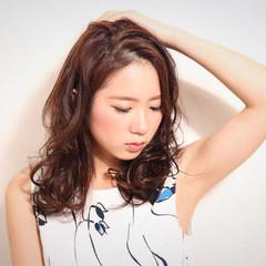 ミディアム 大人かわいい ハイライト コンサバ ヘアスタイルや髪型の写真・画像