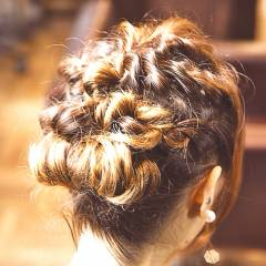 大人かわいい 愛され モテ髪 ロープ編み ヘアスタイルや髪型の写真・画像