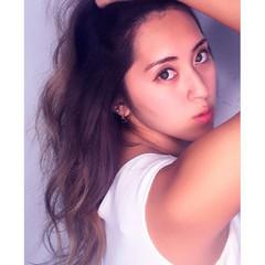 アンニュイ 外国人風 ロング ゆるふわ ヘアスタイルや髪型の写真・画像