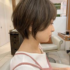 ナチュラル ショートヘア マッシュショート ショートボブ ヘアスタイルや髪型の写真・画像