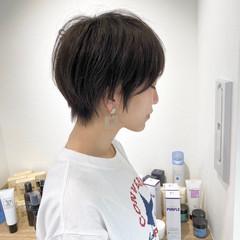 ナチュラル ベリーショート ショートヘア ミニボブ ヘアスタイルや髪型の写真・画像