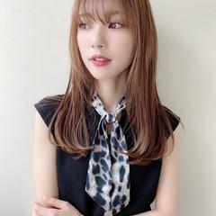 セミロング トリートメント サラサラ 艶髪 ヘアスタイルや髪型の写真・画像