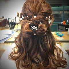 パーティ 結婚式 女子会 ナチュラル ヘアスタイルや髪型の写真・画像